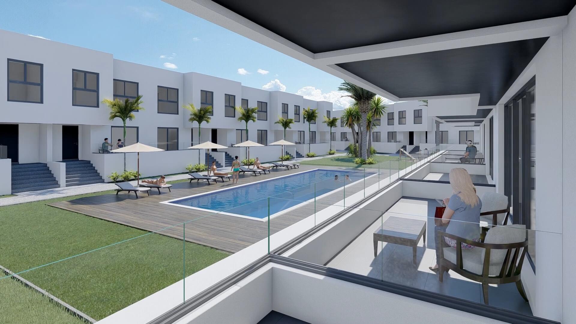 Terraza y piscina Portobello